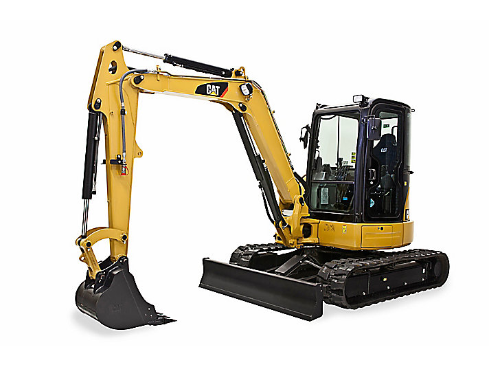 Cat Excavator Mini 305.5E2 CR dengan Boom Swing